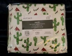 Olivia Gray Collection Cactus King Size Flannel Sheet Set