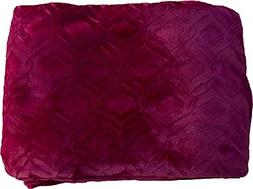 FANCY Collection Super soft Solid Flannel Embossed Queen/Kin