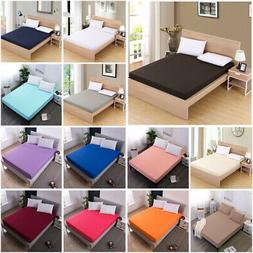 Comfort Fitted Sheets Bed Sheet Bedding Cover Deep Pocket Fu