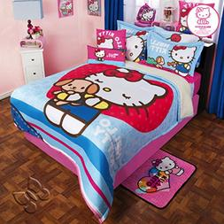 Comforter Hello Kitty Fleece Blanket Sanrio Pink Bedspread S