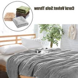 Coral Fleece Blanket Warm Microfiber Blanket Bed Sofa Cover