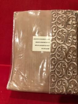 Cotton Bed Sheets Set Size Queen Color Taupe/brown With Deco