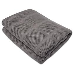 100% Cotton Comfy Knit Premium Blanket Soft Breathable Bedsp