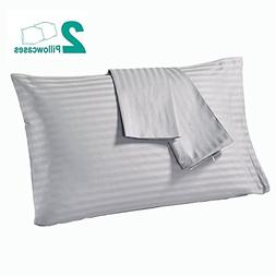 Cotton Pillow Cases 400 Thread Count Striped Pillow Protecto