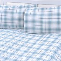 Mellanni 100% Cotton 1 Piece Printed Flannel Fitted Sheet -