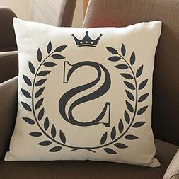 Creative Pillow Covers,Efaster 26 Letters Pattern Cotton Lin