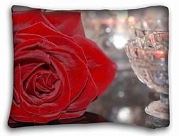 Custom Cotton & Polyester Soft  Soft Pillow Case Cover 20*26
