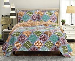 Deluxe Dahlia Oversize bedspread Coverlet, Stimulating and s