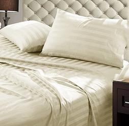 Addy Home Fashions Damask Stripe 1000 Thread Count Ultra Sof