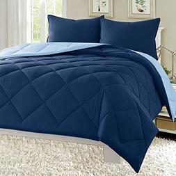 Dayton 3-Piece Reversible Comforter Set Down Alternative Sol