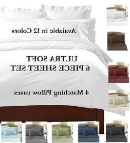 6 PIECE DEEP POCKET 2100 COUNT LUXURY COMFORT SERIES SUPER S
