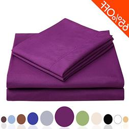 Balichun Deep Pocket Bed Sheet Set Brushed Hypoallergenic Mi