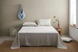 DAPU Defective 100% Linen Sheets Set French Flax