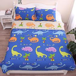 Dinosaur Baby Bedding Coverlet Quilt Bedspread Throw Blanket