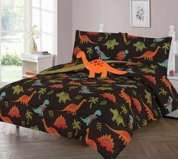Dinosaur Brown Jungle Kids/Teens Bed In a Bag COMFORTER Saur