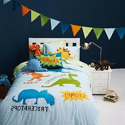 LELVA Dinosaur Bedding Kids for Full Size Boys Duvet Cover s