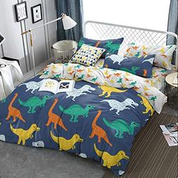 KFZ Dinosaurs Ultra Soft Full Size Duvet Cover Set, 3pcs wit