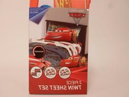 Disney Cars 3 Twin Size Bed Sheet Set 4 Piece Kids Bedding S