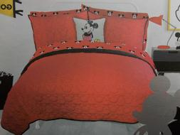 Disney Mickey Mouse 7 Pc Quilt Sham Sheet Bed Set ~ NEW Red