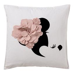 Ethan Allen | Disney Minnie Mouse Floral Flourish Pillow, Pe