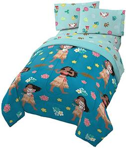 Jay Franco Disney Moana Flower Power 4 Piece Twin Bed Set -