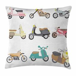 Doodle Throw Pillow Cushion Cover by Ambesonne, A Variety of