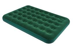 Double Size Flocked Air Bed with Built-in Foot Pump