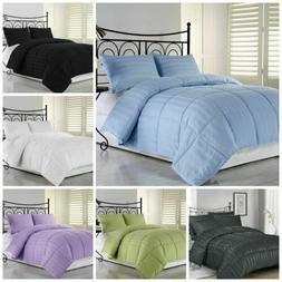 Down Alternative Reversible color Comforter Set Twin, Full/Q