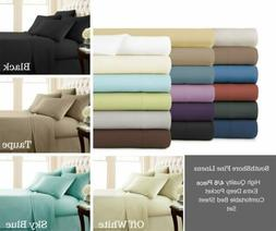 Egyptian Comfort 1800 Count Ultimate 4/6 Piece Bed Sheet Set