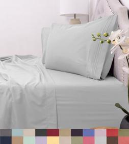 Egyptian Comfort 1800 Thread Count 4 Piece Bed Sheet Set Dee
