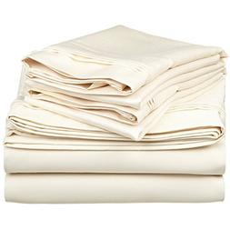 100% Egyptian Cotton 650 Thread Count, King 4-Piece Sheet Se