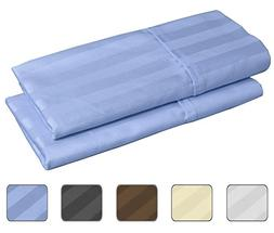 100% Egyptian Cotton, 540 Thread Count 2 Pack Striped King S