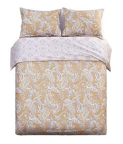 Word of Dream Egyptian Cotton 3 PC Duvet Cover Set, King, Di