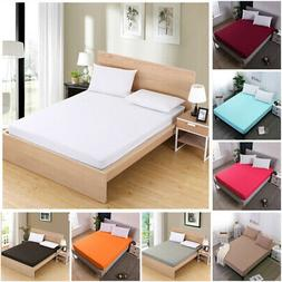 Fitted Sheets Bed Sheet Bedding Cover Deep Pocket All-Round