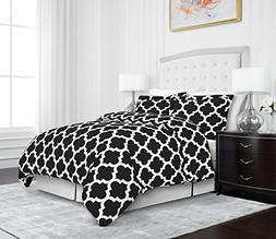 Egyptian Luxury Quatrefoil Duvet Cover Set - 3-Piece Ultra S