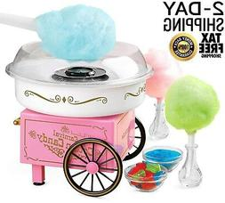 Electric Commercial Cotton Candy Maker Machine Cart Kit,Vint
