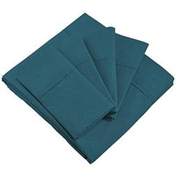 Cosy House Collection Elegant Bed Sheets - King Size, Dark T