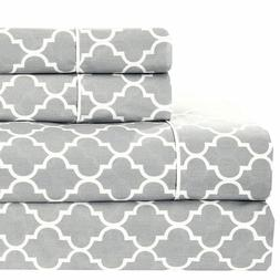 Modern Meridian 100% Cotton Bed Sheets Set with 250 Thread C
