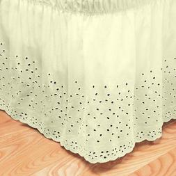 Sweet Home Collection Embroidered Floral Eyelet Polyester Du