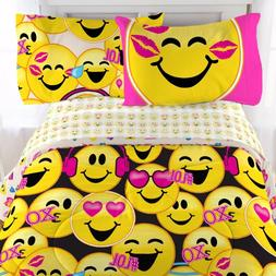 Emoji Collection Microfiber Sheet Set, Twin 3 piece set