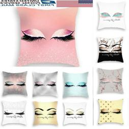 Eyelash Linen Cotton Pillow Case Cushion Cover Sofa Home Dec