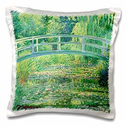 3dRose Famous Monet's Water Lillie's with Lavender Frame-Pil