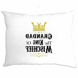 Father's Day Pillow Case Grandad, The King Of Mischief Novel