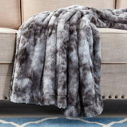 Faux Fur Throw Blanket Super Soft Fuzzy Light Weight Luxurio