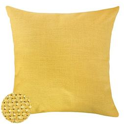 Deconovo Faux Linen Look Throw Cushion Case Pillow Cover Wit