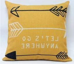 Feather Arrow Magic squares Cotton Linen Throw Pillow Case C