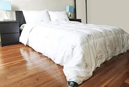 """""""Triumph Hill"""" White Goose Feather and Down Comforter with 2"""