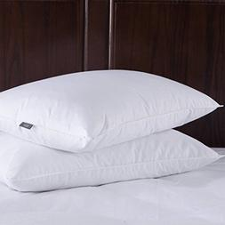 Puredown Down Feather Pillows For Sleeping, Set of 2, Standa