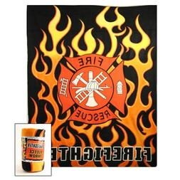 Fire fighter Fire Rescue Fleece Blanket