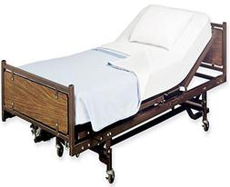 White Classic Fitted Hospital Bed Sheets, Soft Knitted Jerse